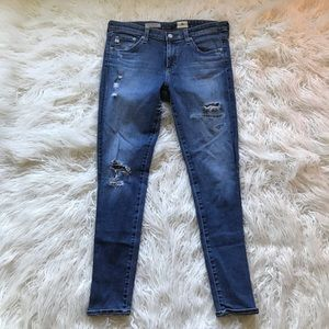 AG The Legging Ankle Super Skinny Ankle Distressed